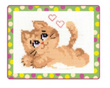 Riolis Cross Stitch Kit. KITTY.